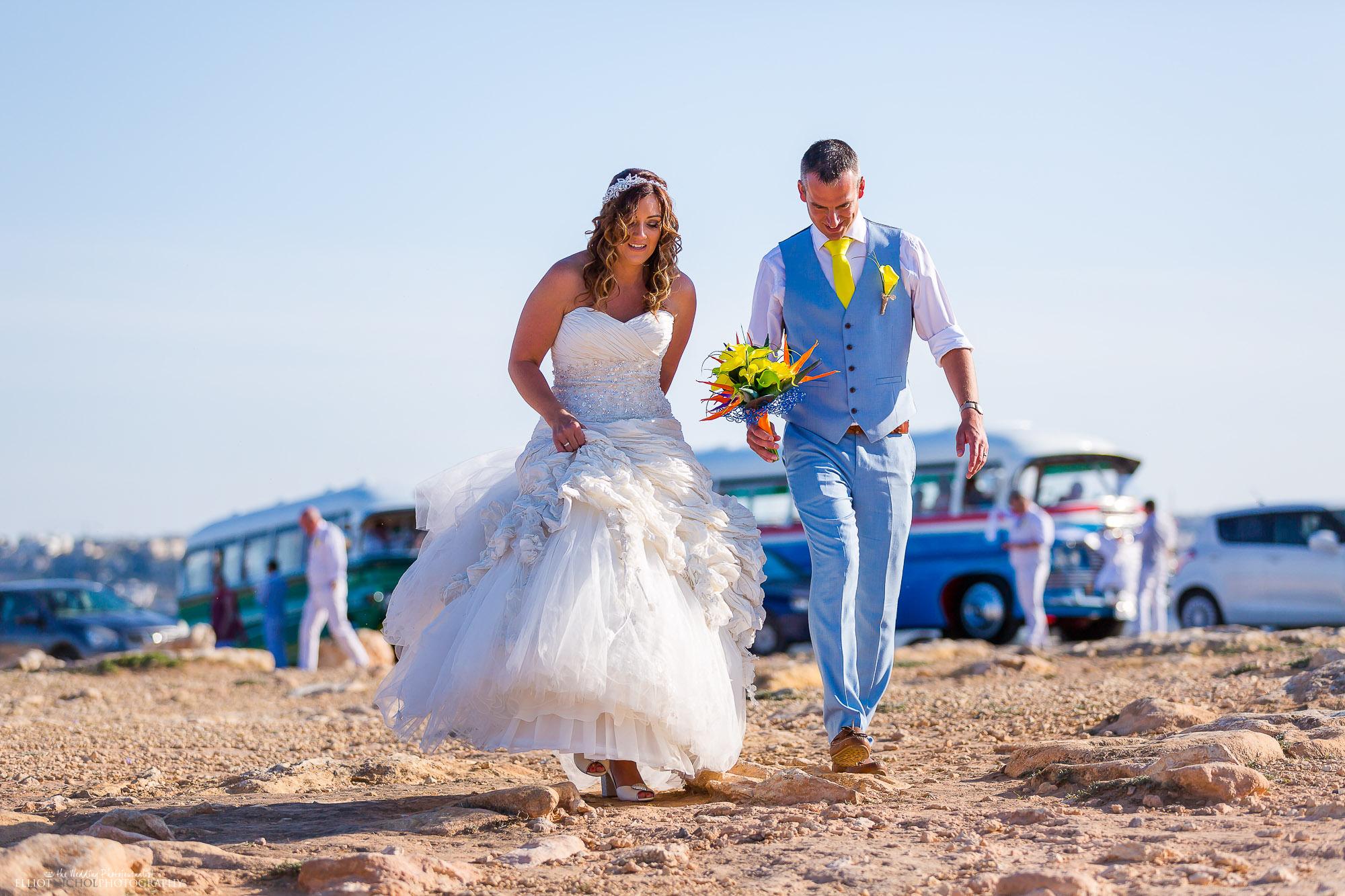 bride-groom-destination-wedding-Malta-coaches