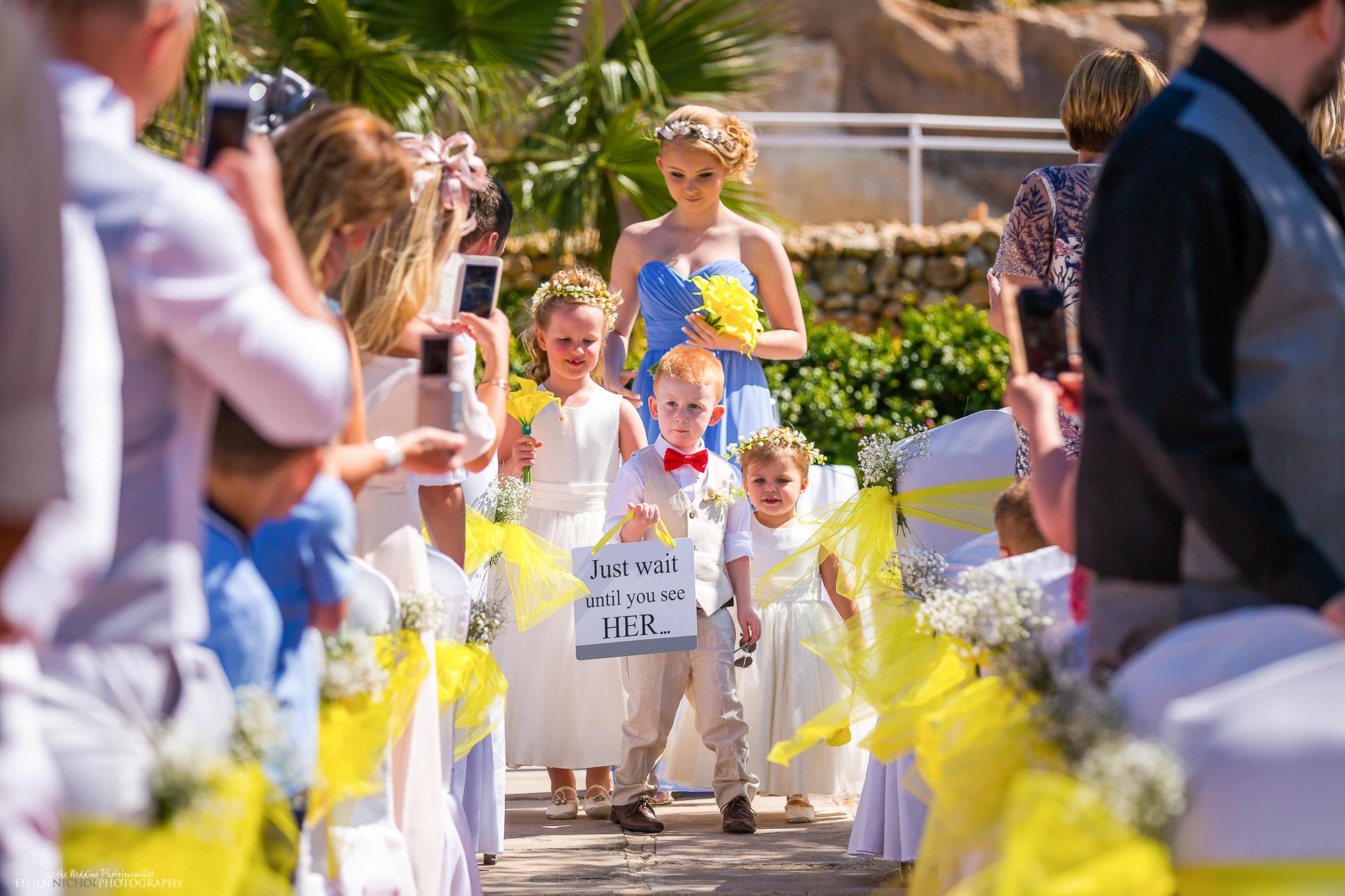 pageboy-flower-girl-procession-wedding-ceremony