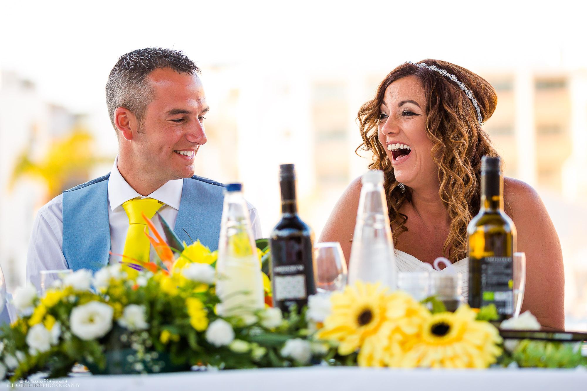 bride-groom-wedding-reception-speech-reaction-photo