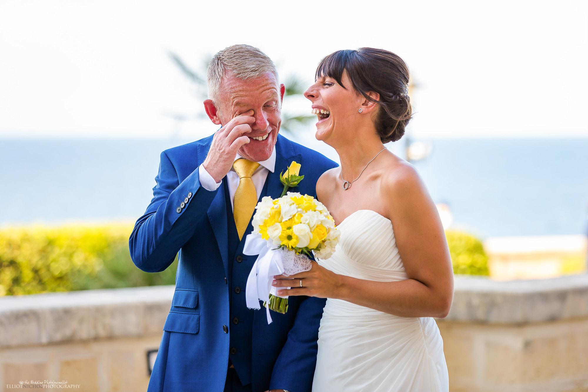 bride-groom-laughing-wedding-day-photo