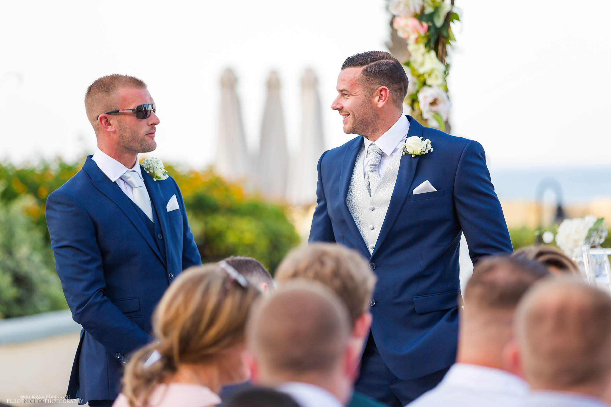 Groom with his Bestman before the wedding ceremony. Northeast wedding photography by Elliot Nichol.