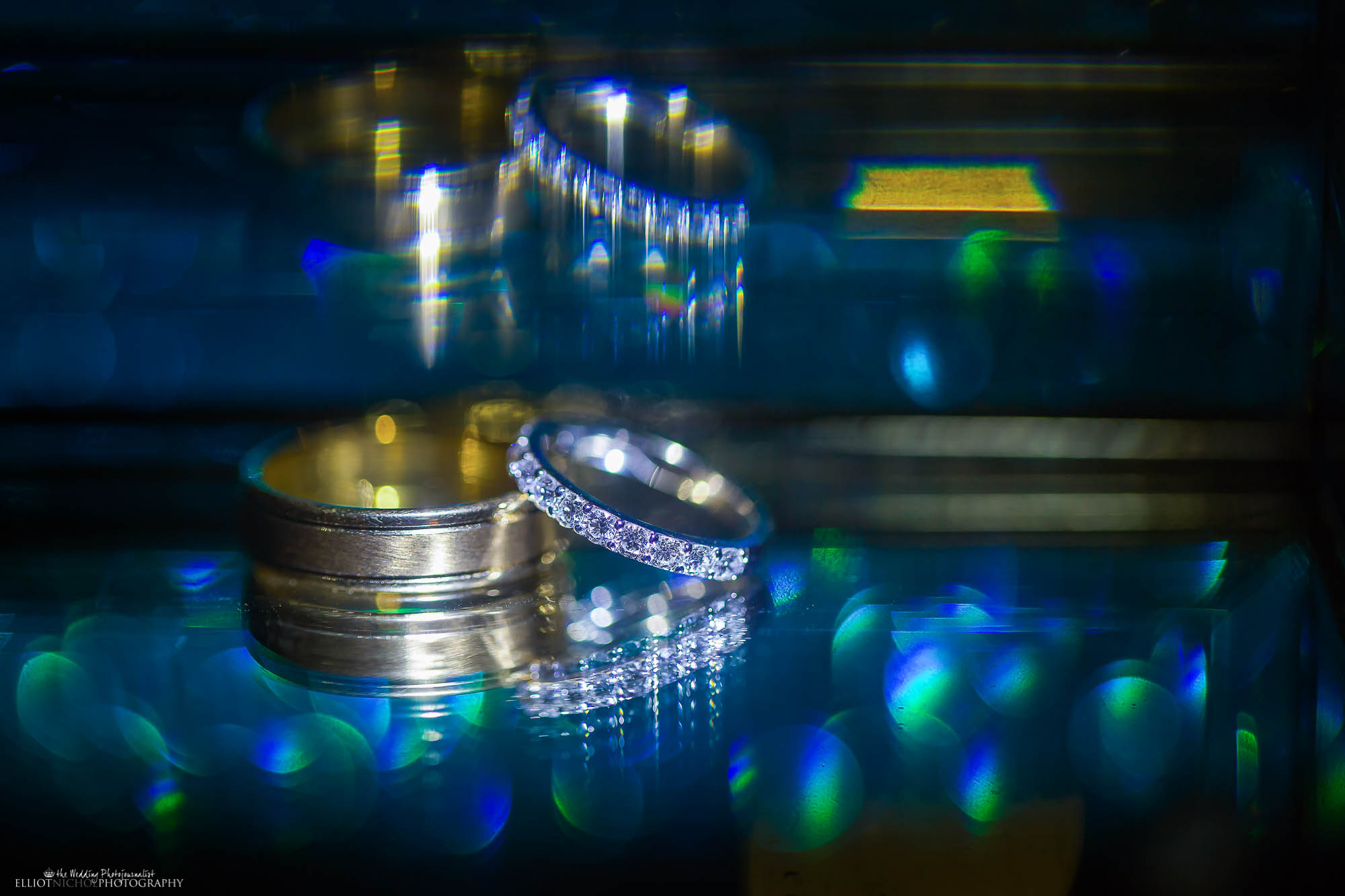Wedding ring details from North East wedding photographer Elliot Nichol.