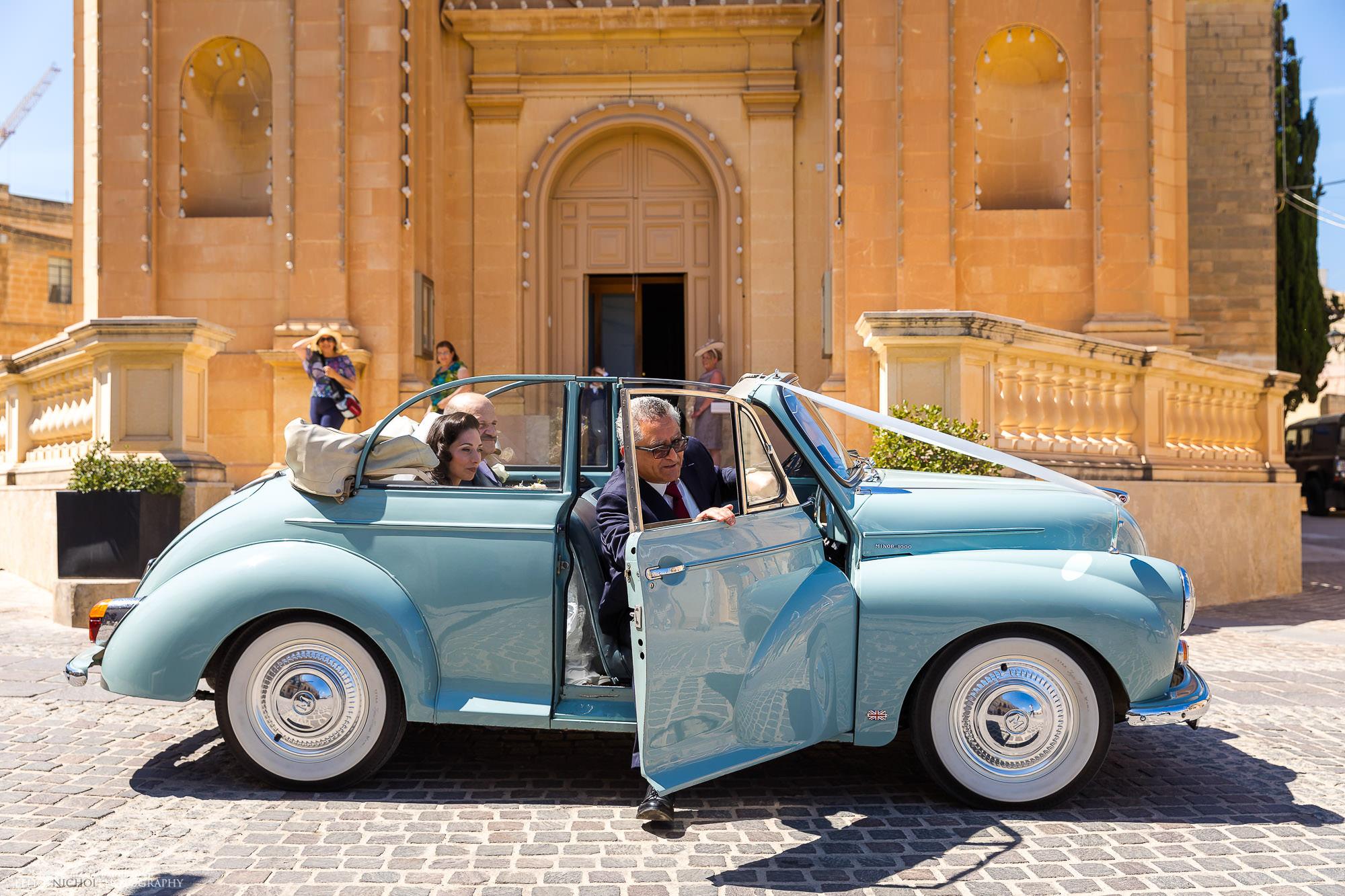 Bride-arrival-church-Malta-destination-photographer