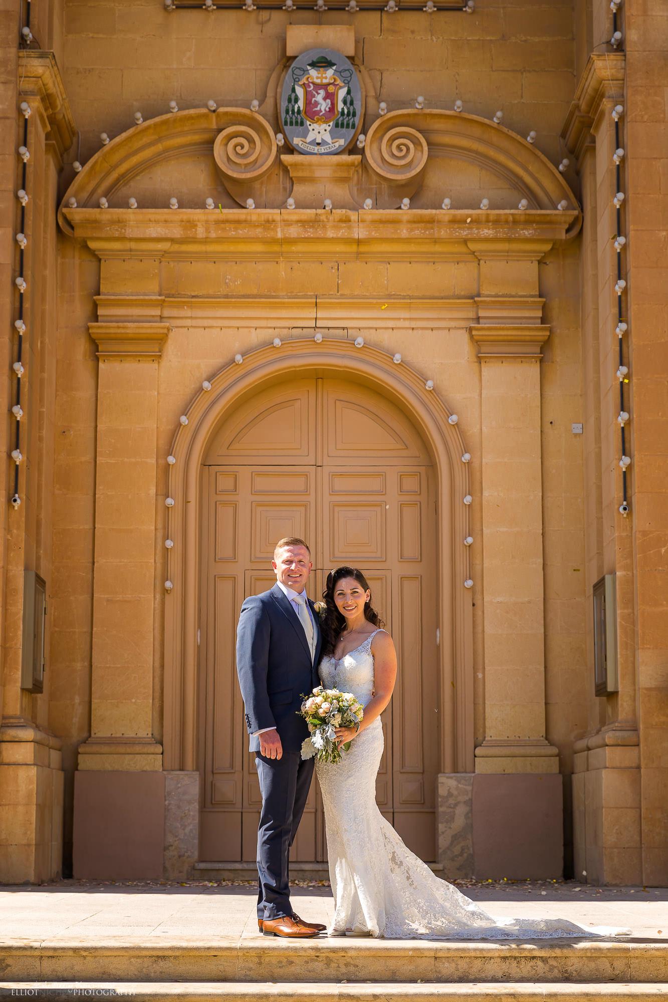 bride-groom-church-steps-destination-wedding
