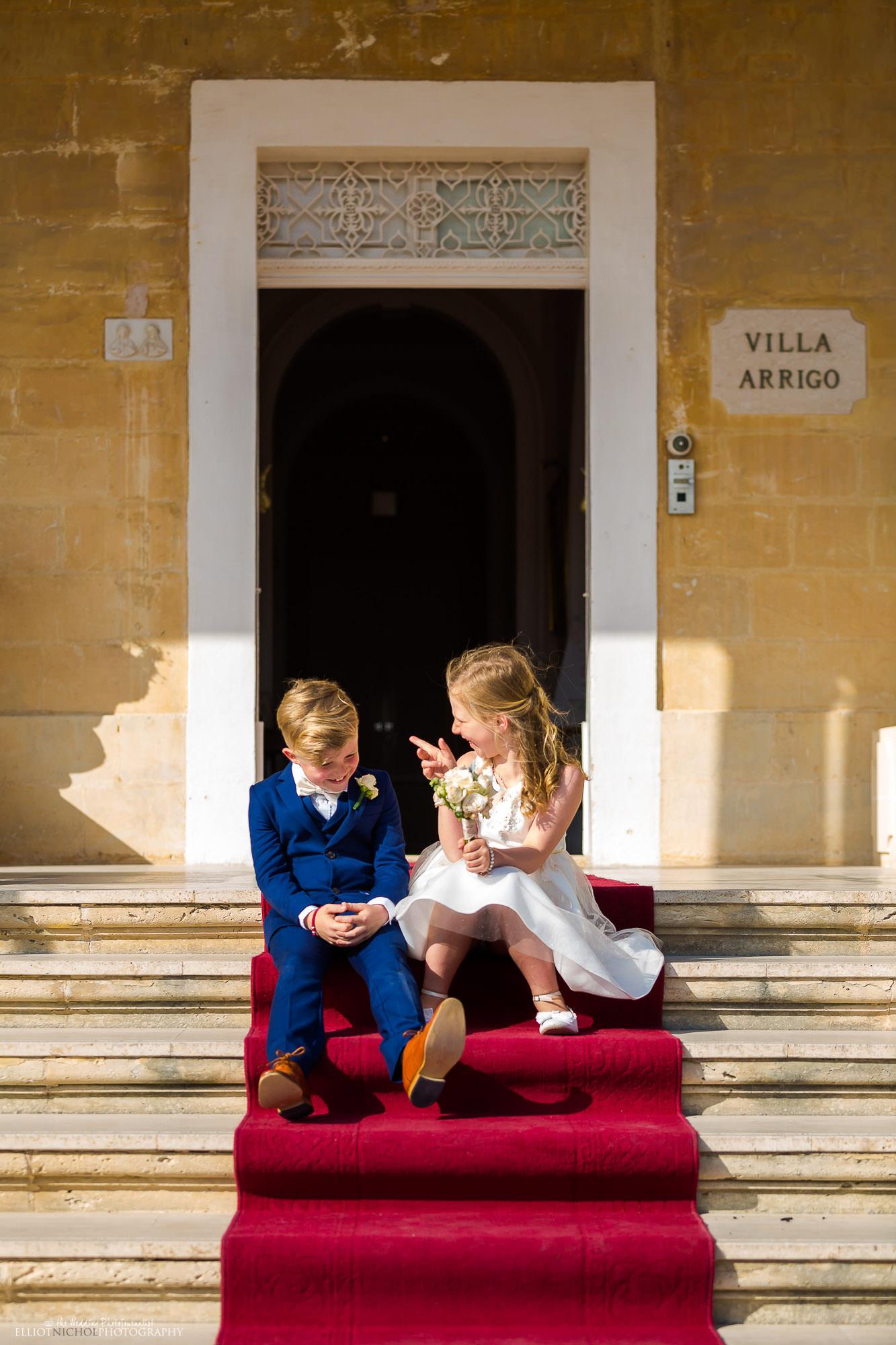flower-girl-page-boy-destination-wedding-venue-Villa-Arrigo-Malta