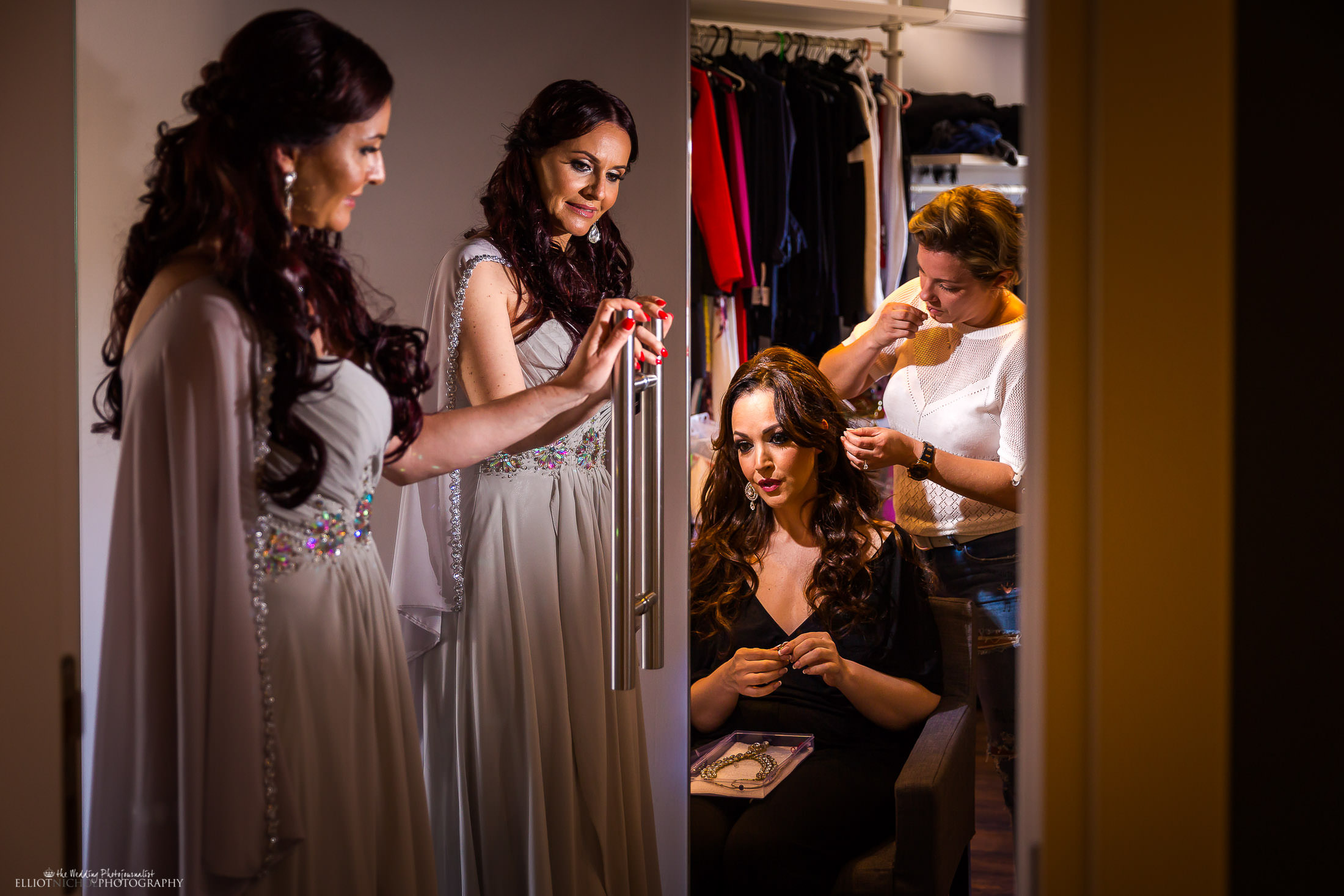 Bridal parties preparations. Photo by Elliot Nichol Photography.