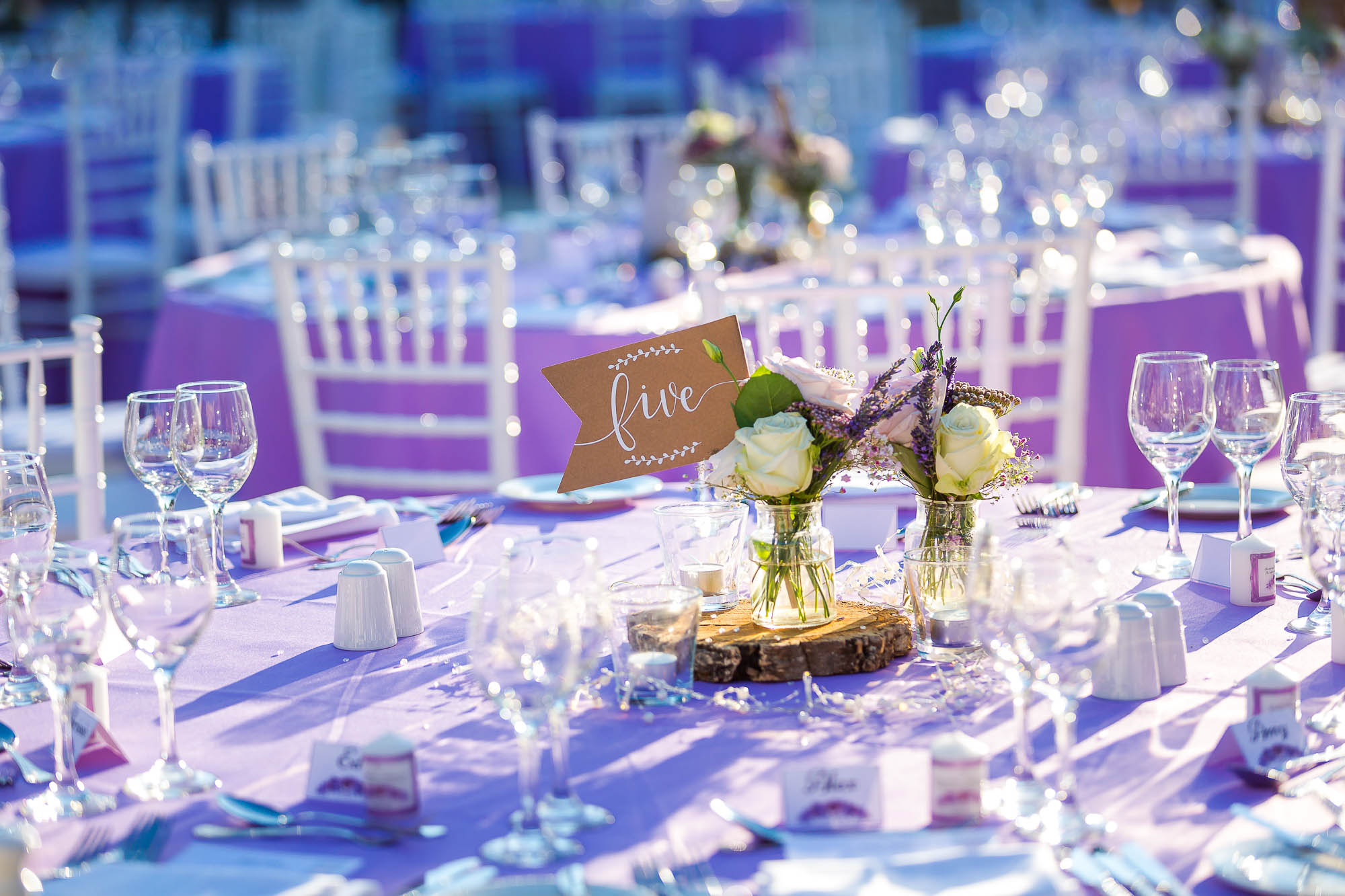 Wedding reception setup details. Photo by Elliot Nichol Photography.