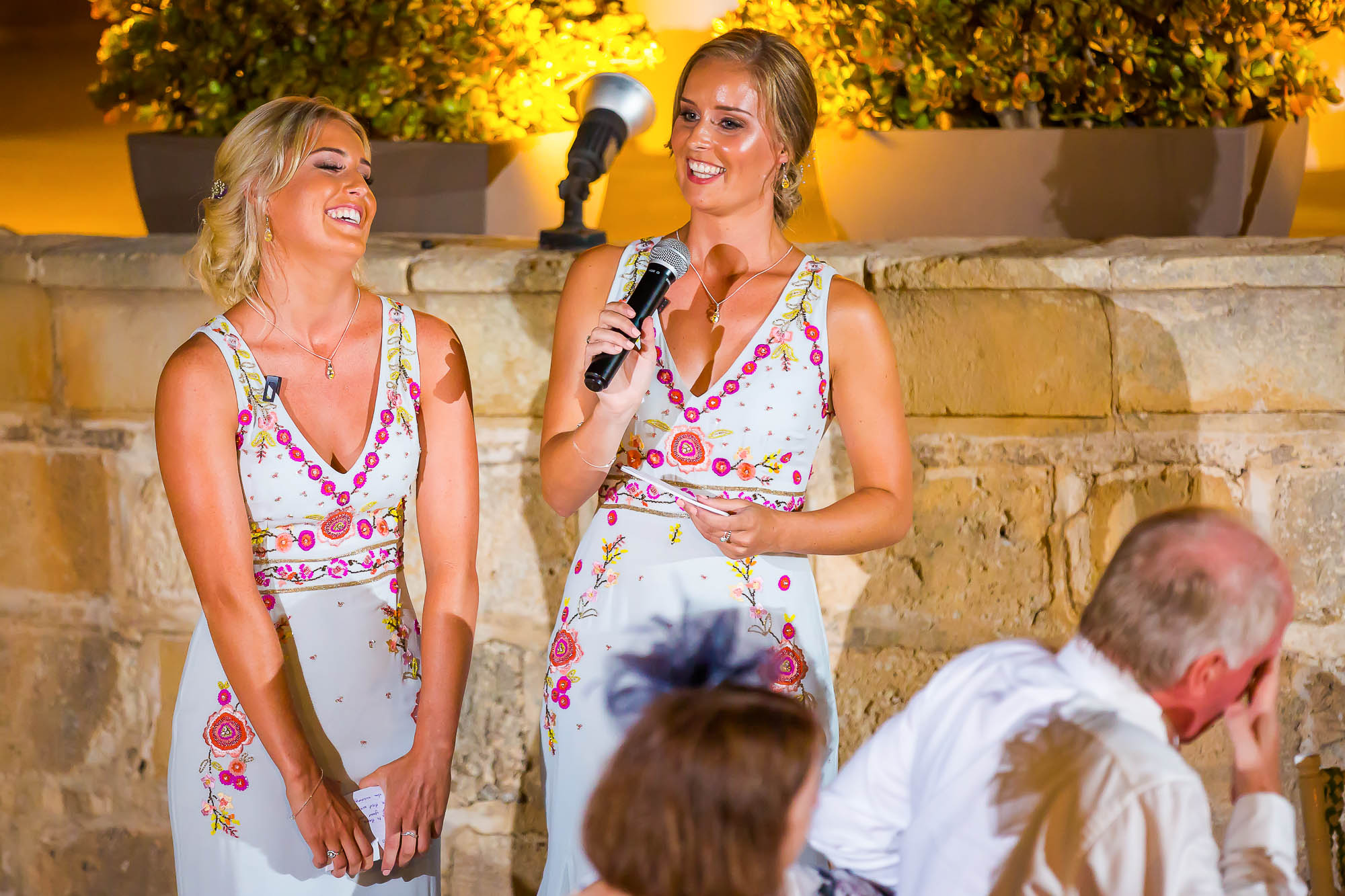 Bridesmaids wedding reception speech. Photo by Elliot Nichol Photography.