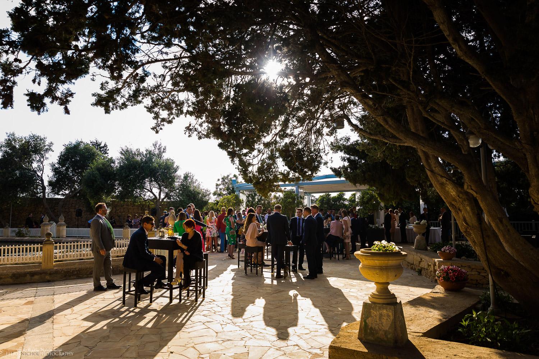 Garden area at Villa Arrigo, wedding venue in Naxxar Malta. Photo by Elliot Nichol Photography.