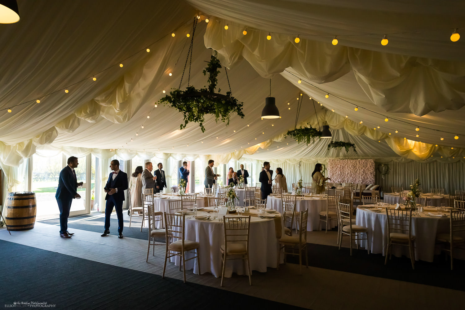 Vallum Farm events area decorated for an Asian engagement party. Photo by Elliot Nichol Photography.
