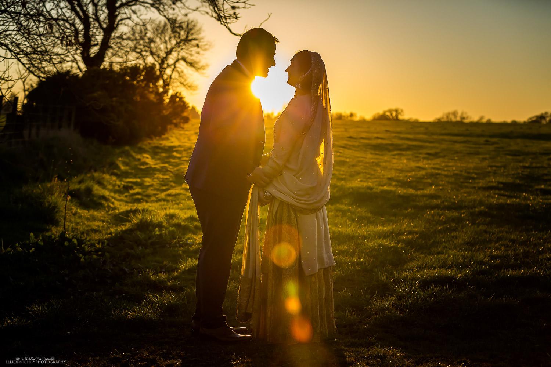 Asian couple at Vallum Farm, Newcastle Upon Tyne. Photo by North East wedding photographer Elliot Nichol.