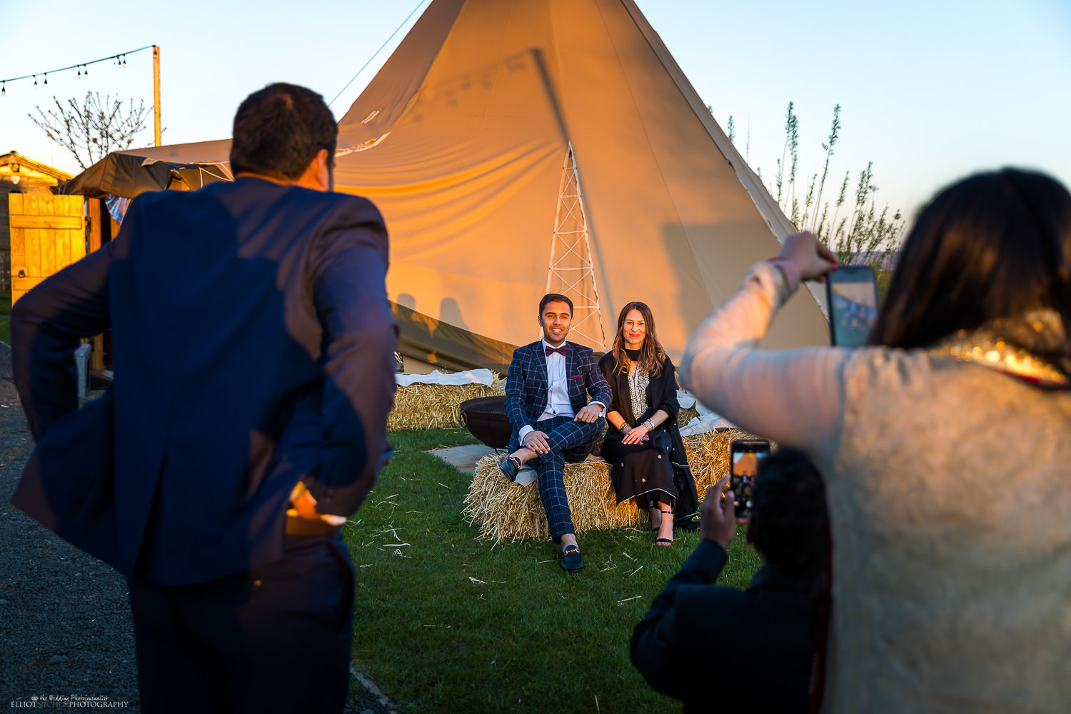 Photo opportunities at Sunset next to the Tipi at Vallum Farm. Photo by Elliot Nichol Photography.