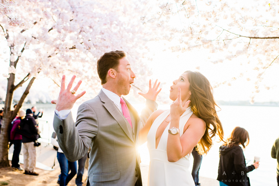 Cherry Blossom Washington, DC Engagement Session