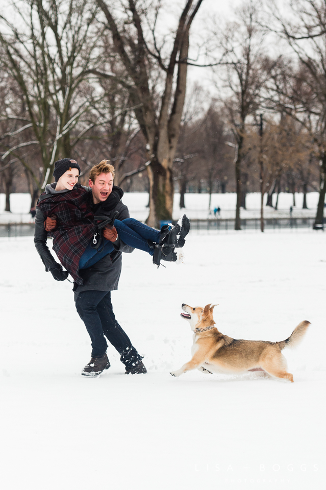 Arielle & Hugh's Snowy DC Engagement Photos