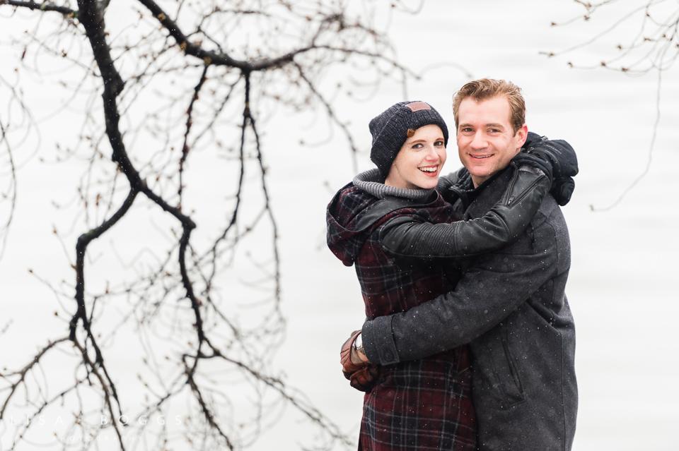 Arielle & Hugh's Snowy DC Engagement Photos