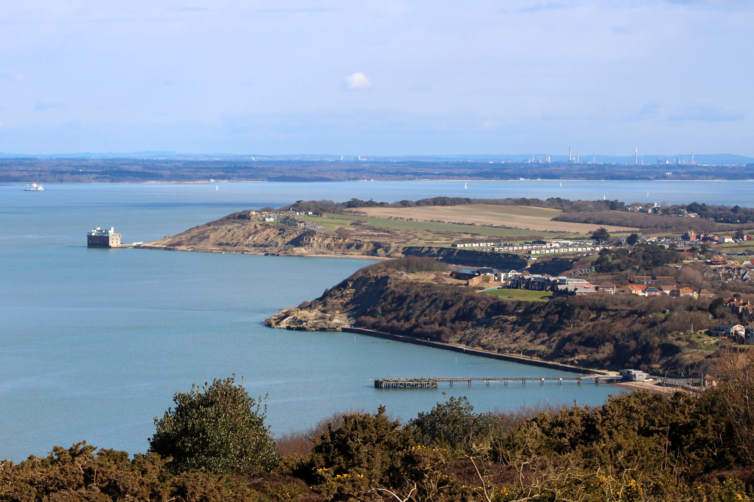 Stunning views back to the mainland from the local area.