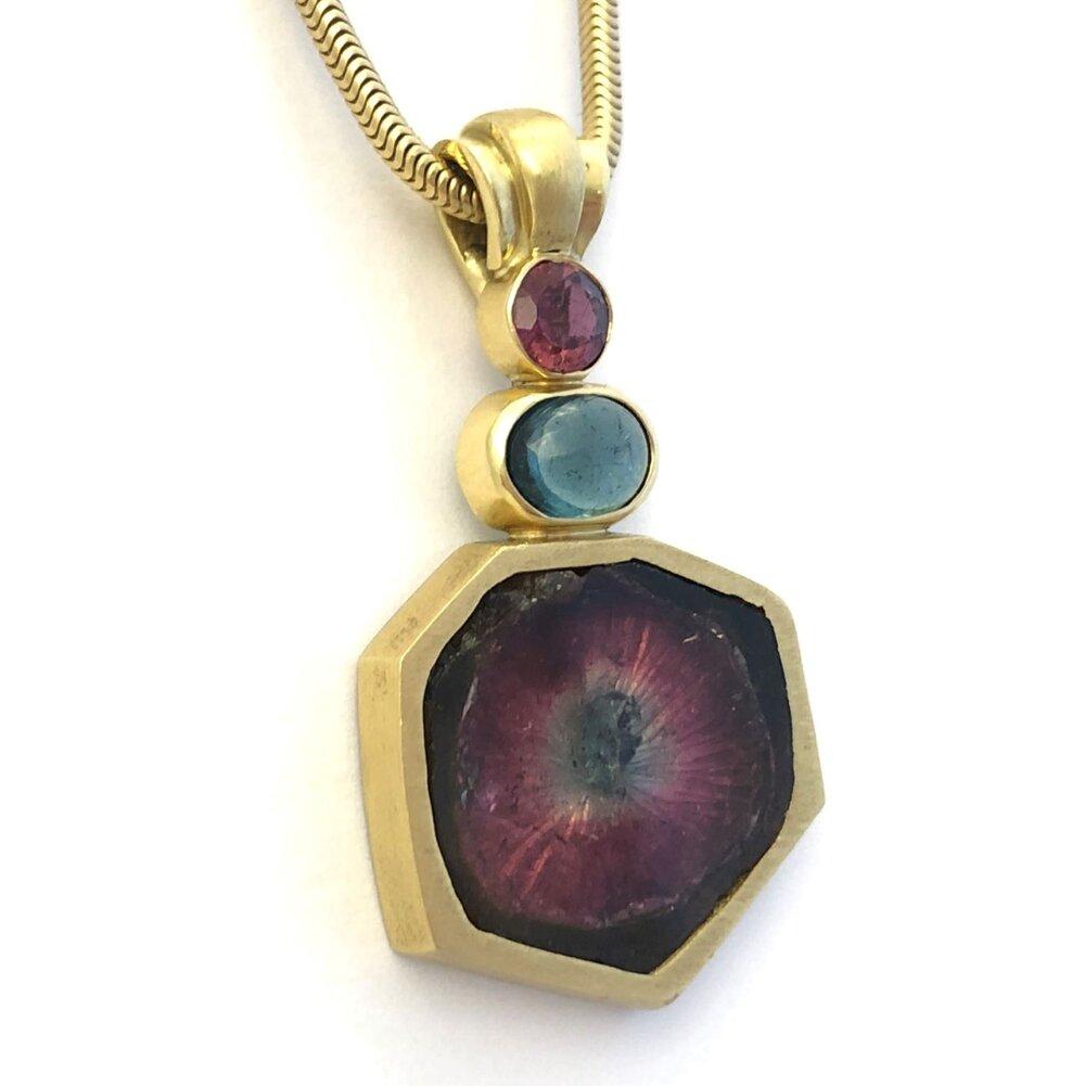 Yahaw nut opal Australia 14kt