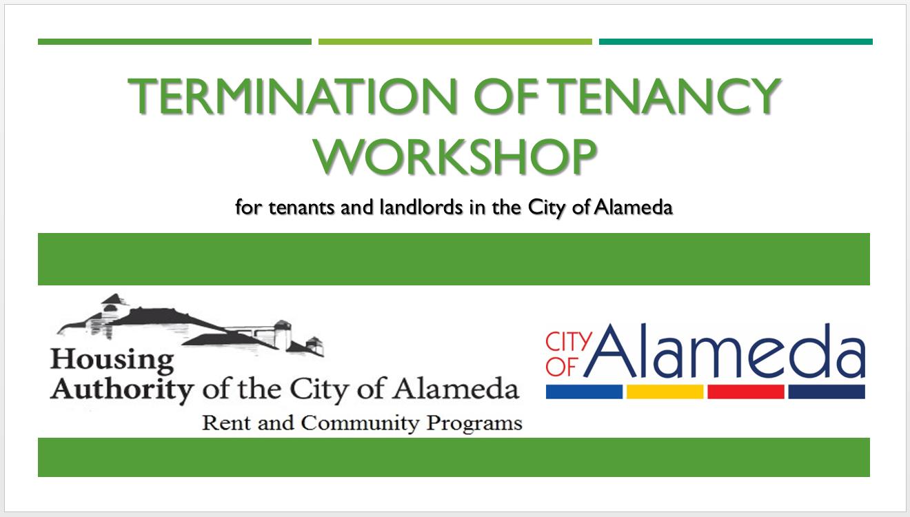 Termination of Tenancy Workshop