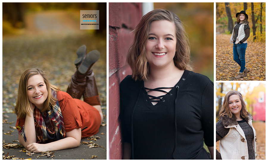 fall senior girl pictures, henry's woods park in rogers minnesota