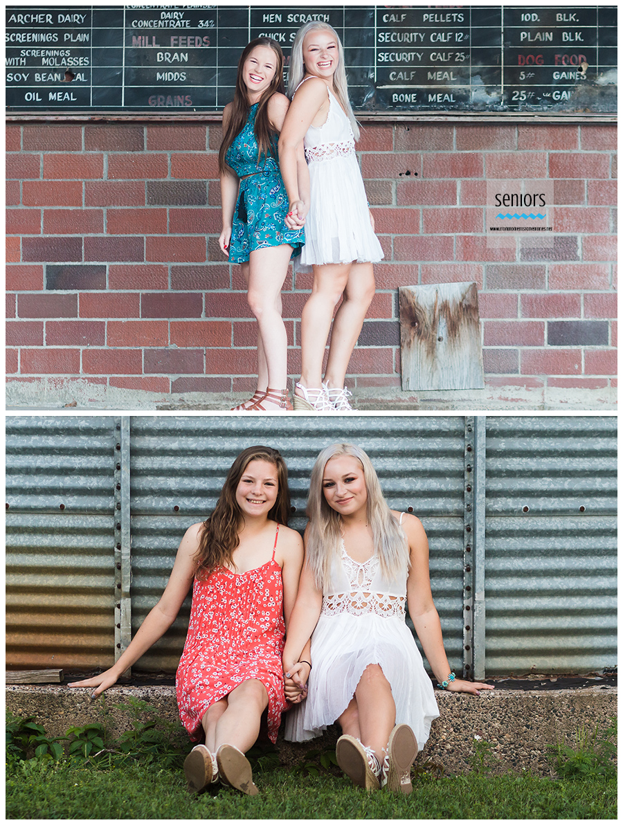 best friend senior pictures anoka feed mill downtown