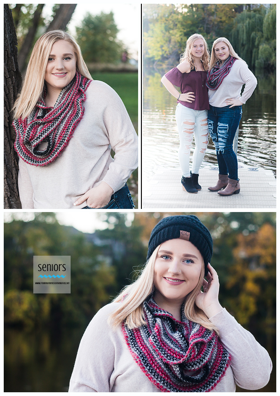 fall senior girl pictures on the rum river in anoka, minnesota
