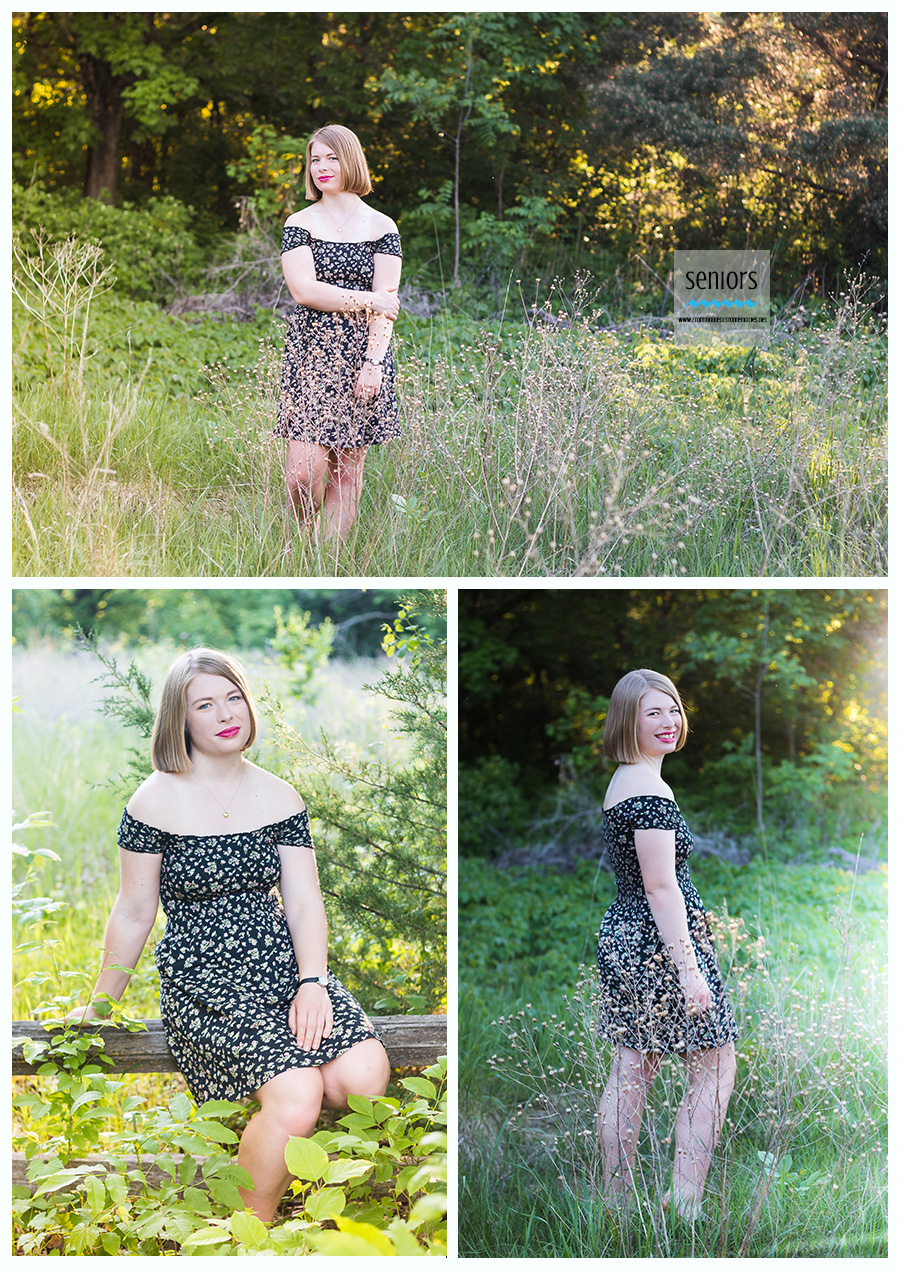 beautiful senior girl taking photos at a park in anoka, minnesota