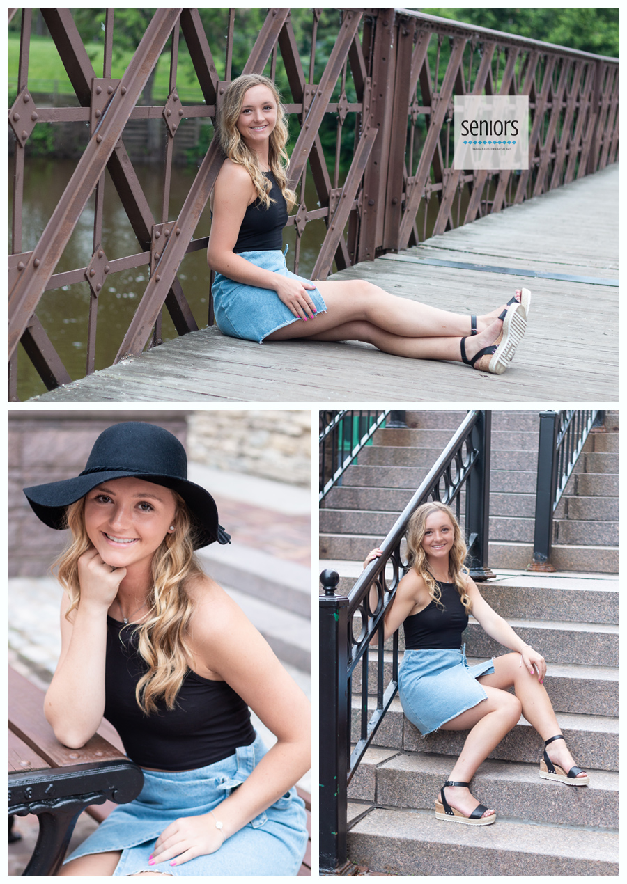 Girl getting her senior pictures done in Saint Anthony Minnesota near Minneapolis
