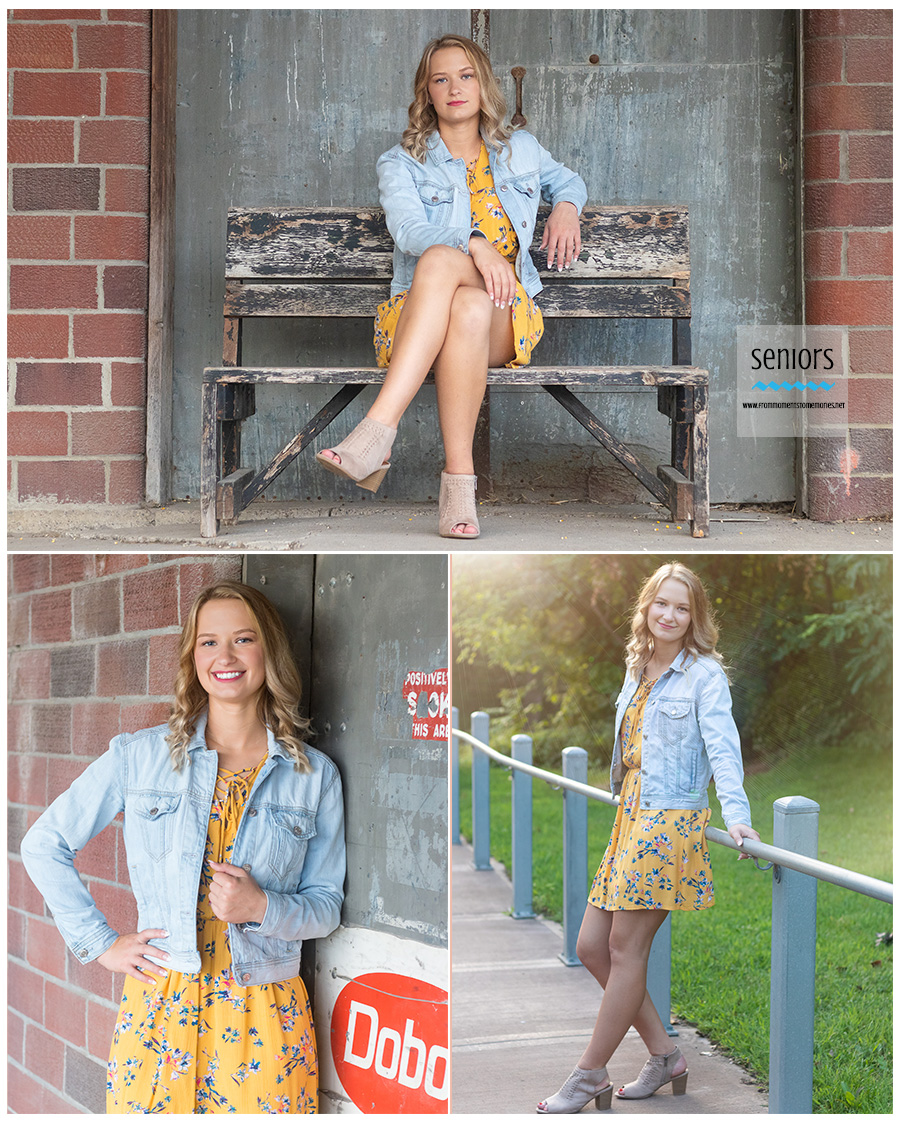 Spring Lake Park High School senior getting her photos taken in Anoka, Minnesota