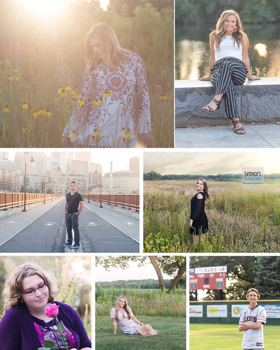 summer senior pictures in minnesota