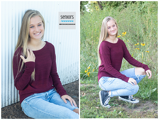 teenage girl getting senior photos taken in Elk River, Minnesota park