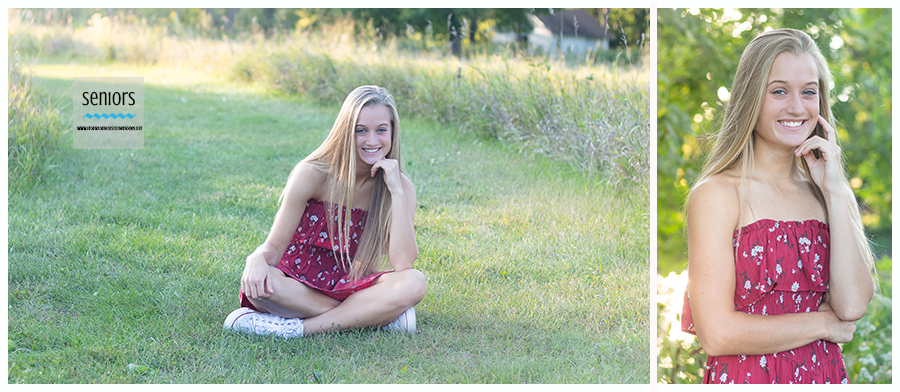 beautiful teenage girl having her senior portraits taken in elk river, minnesota