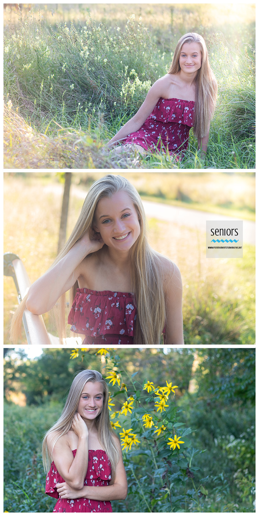 golden hour and wildflower senior photos taken of a girl in elk river, minnesota