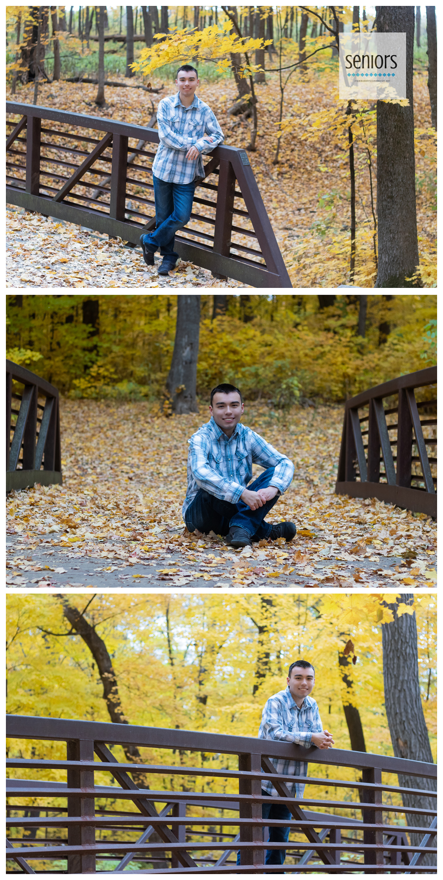 high school senior pictures in rogers, Minnesota fall foliage