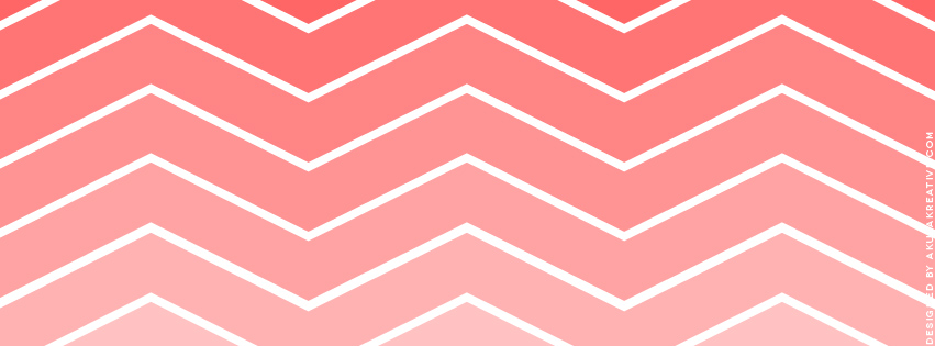 Coral Chevron Facebook Cover Photo // Free Download