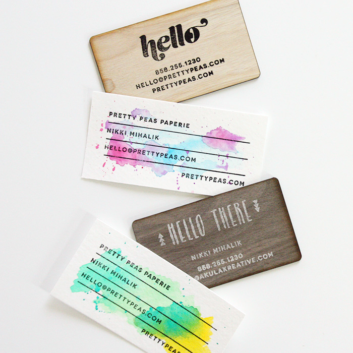 Pretty Peas Paperie Pop-Up-Shop // DIY Business Cards