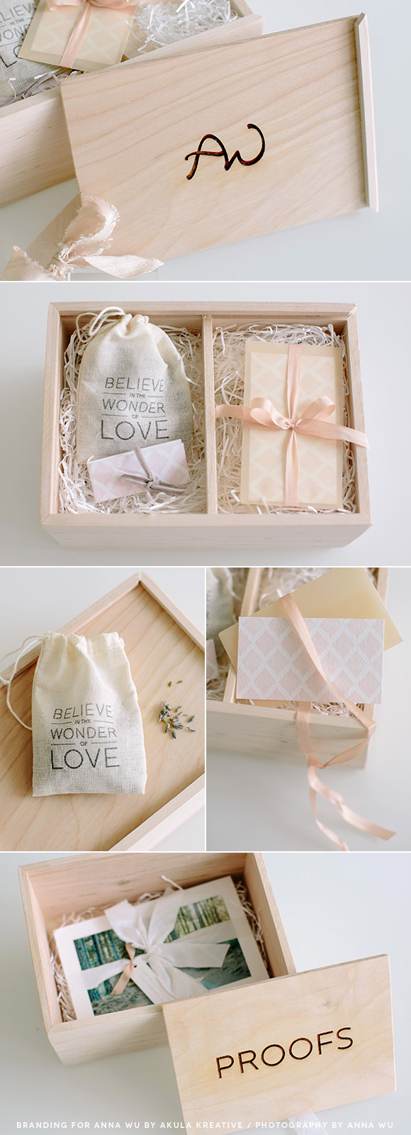 Custom Photography Packaging for Anna Wu // Akula Kreative