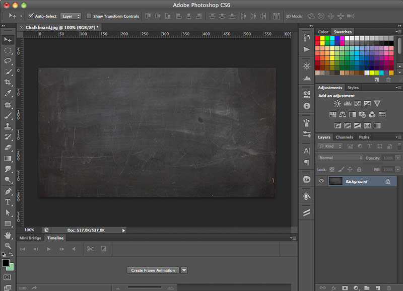 How to create a chalkboard effect in Photoshop | Step 1