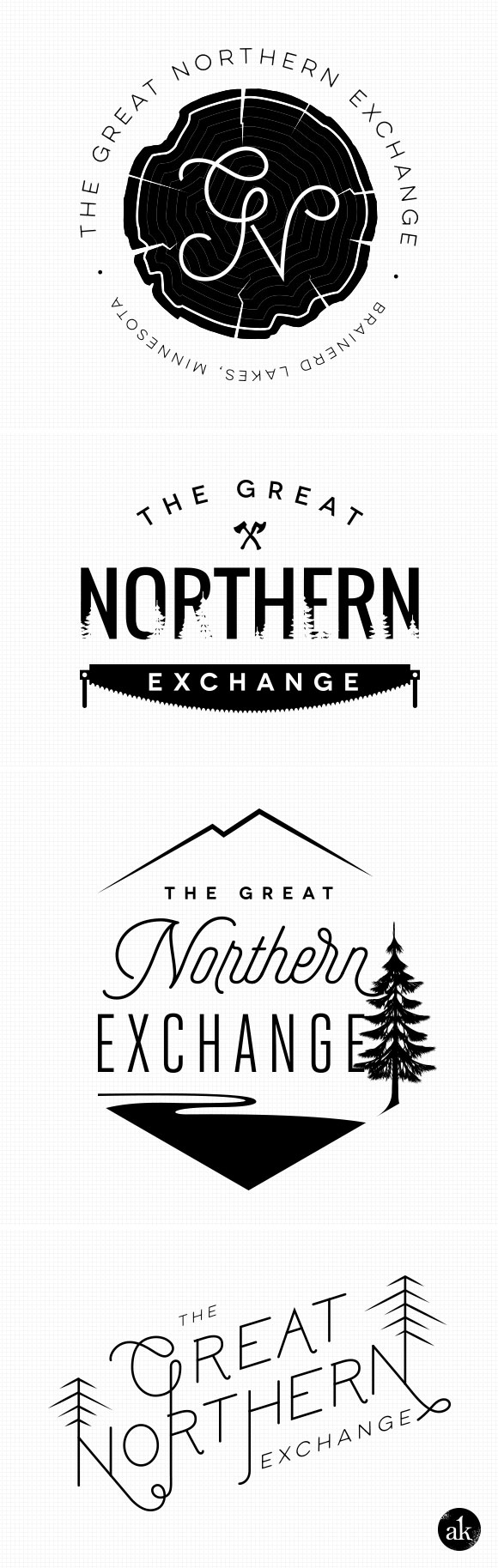 Custom logo design for The Great Northern Exchange by Akula Kreative