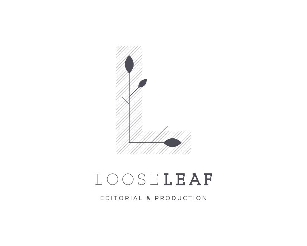 Modern LL Monogram Logo for Looseleaf Editorial and Production | akulakreative.com