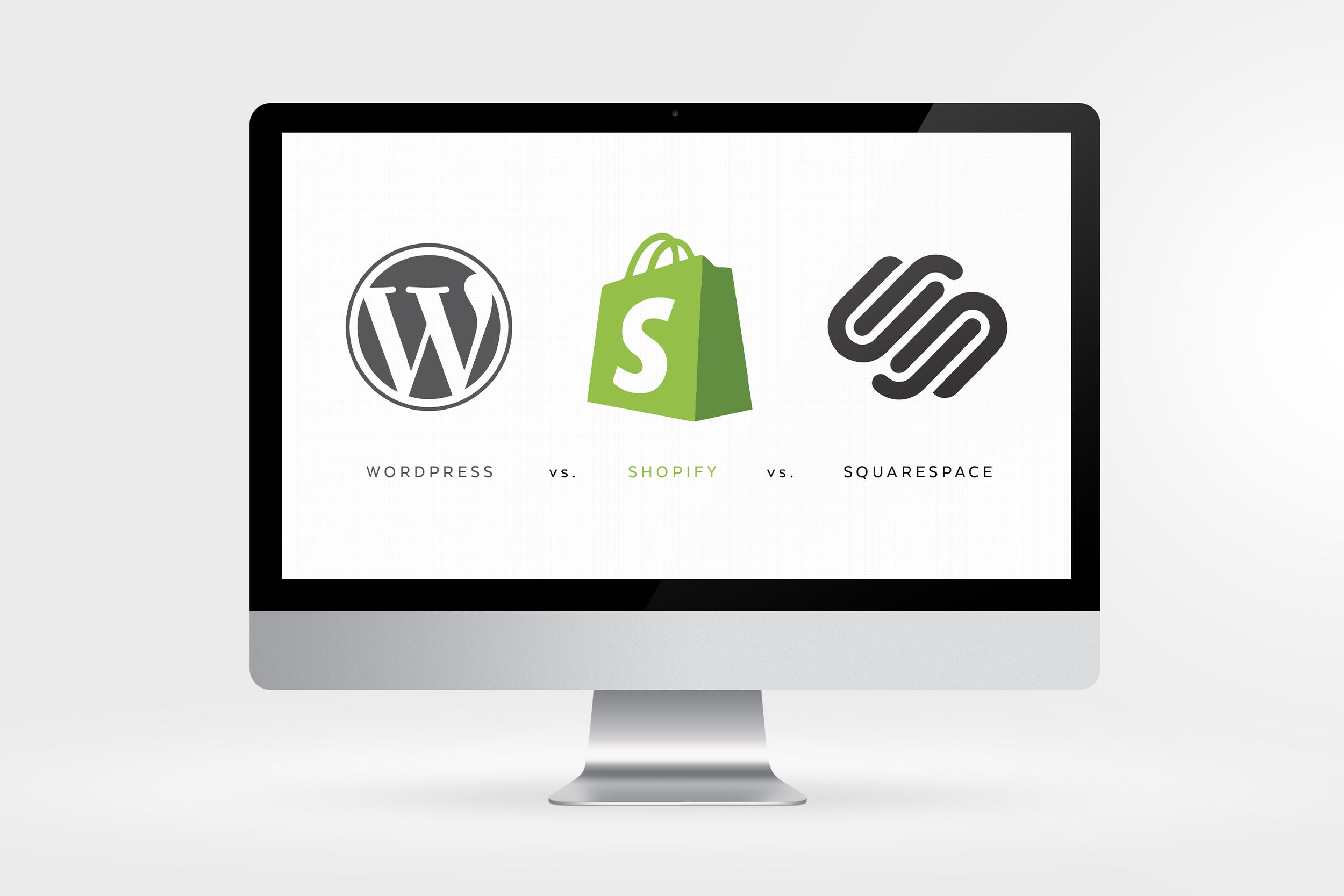 WordPress vs. Shopify vs. SquareSpace