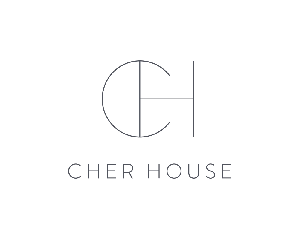 Cher House | Custom Logo Design for Interior Designer | Akula Kreative