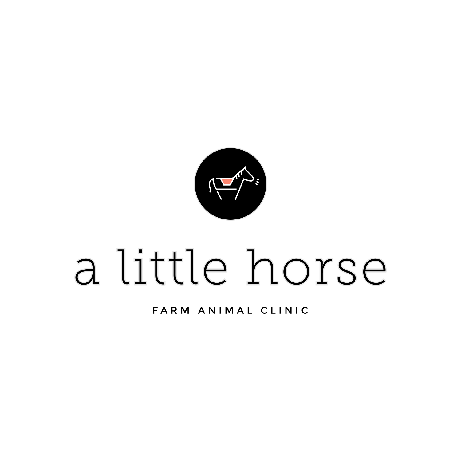 A Little Horse Farm Animal Clinic Logo by Akula Kreative