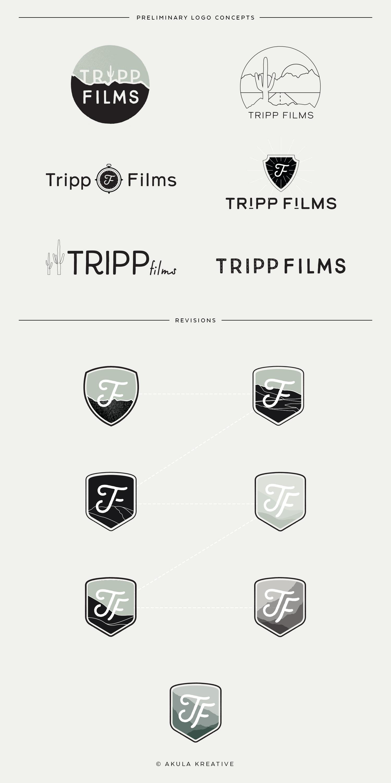 Custom Logo Design for Tripp Films by Akula Kreative