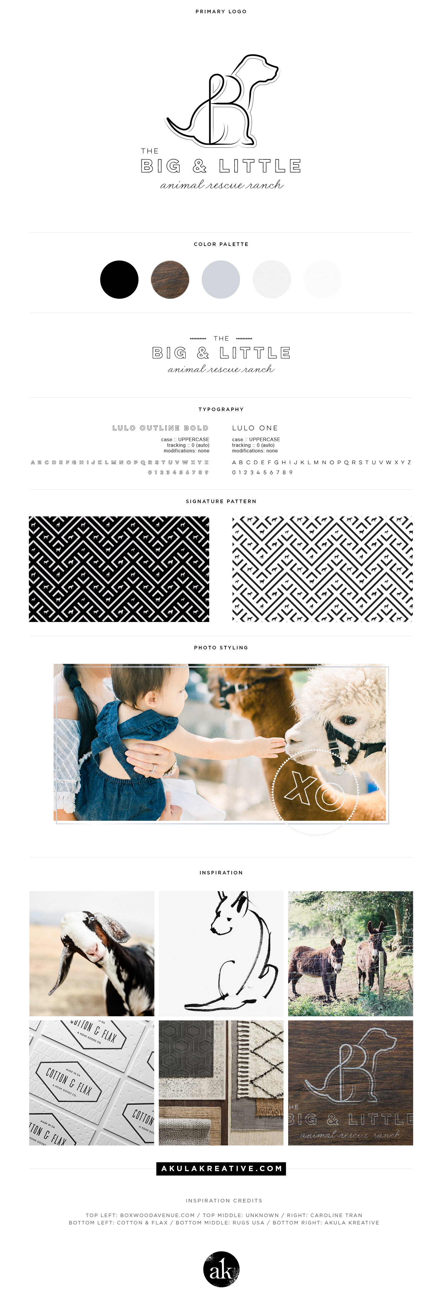 The Big & Little Ranch Style Guide | Modern Dog Ranch Branding in Neutral Colors | akulakreative.com