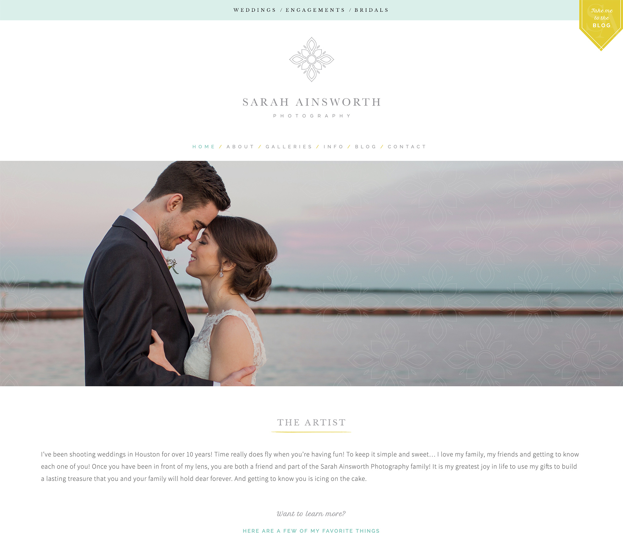 Custom Squarespace Site for Sarah Ainsworth Photography | Designed by Akula Kreative | akulakreative.com