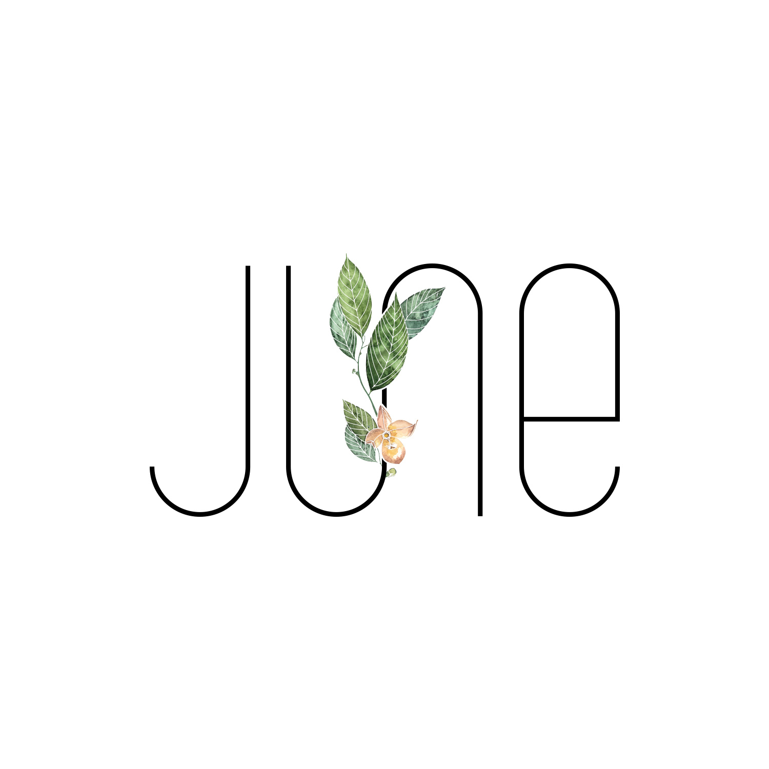Combination Mark Logo for JUNE by Akula Kreative