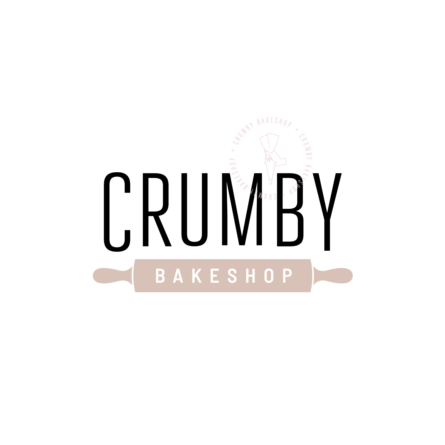 Combination Mark Logo for Crumby Bakeshop by Akula Kreative