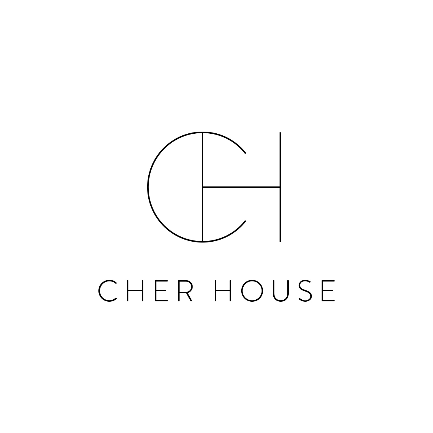 Monogram Logo for Cher House by Akula Kreative