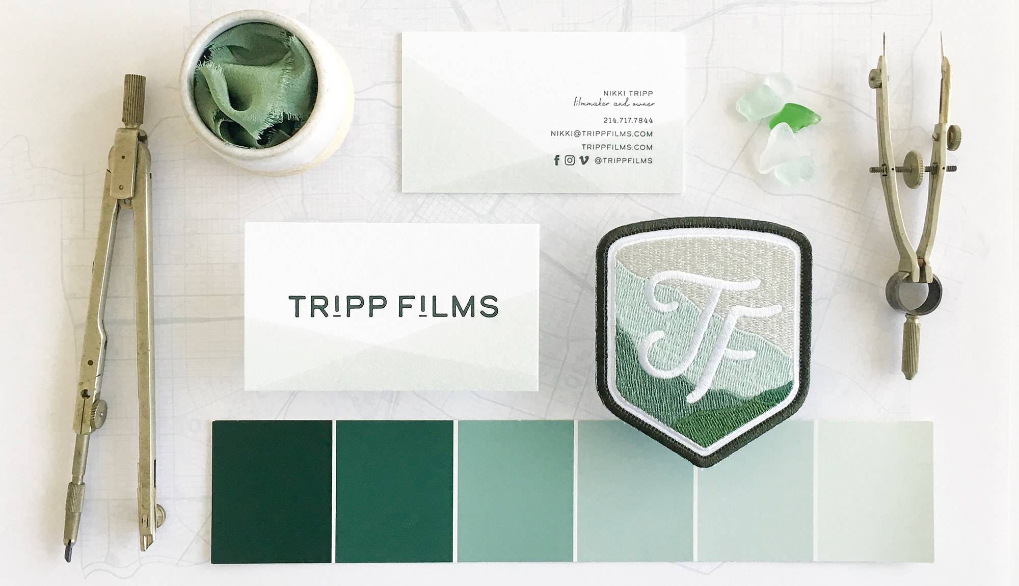 Dip-Dyed Letterpress Business Cards | Akula Kreative