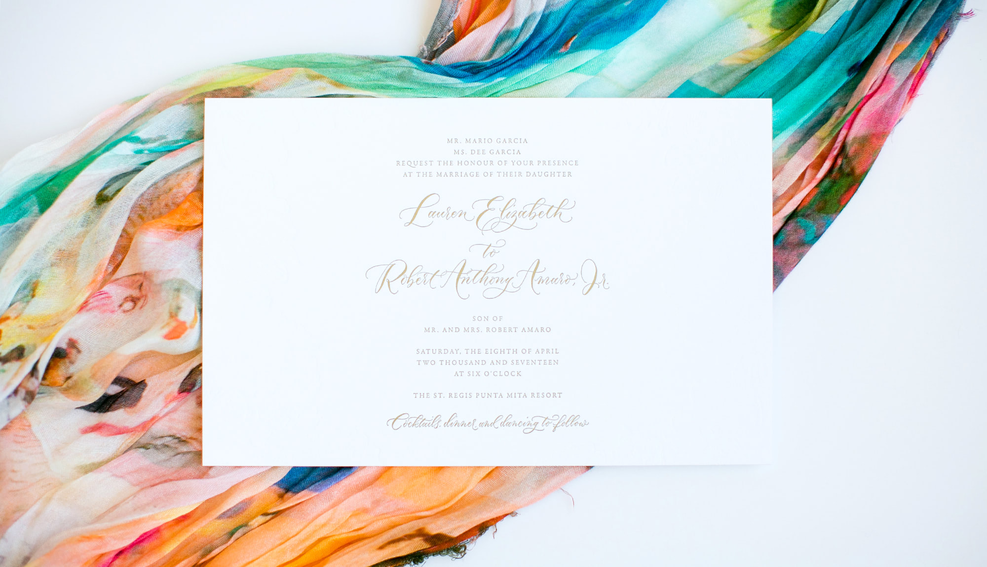 Letterpress Wedding Invitation | Akula Kreative